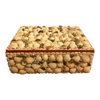Large Folk Art Seashell Box