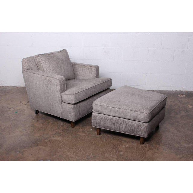 Dunbar Furniture Lounge Chair and Ottoman by Edward Wormley for Dunbar For Sale - Image 4 of 11