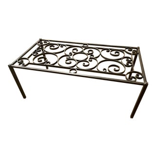 Traditional Iron Cocktail Table Base For Sale