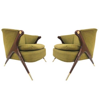 Karpen of California Mid-Century Modern Lounge Chairs For Sale