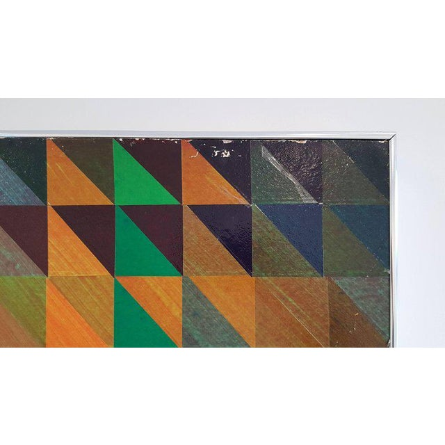 1960s Hand-Painted Paper Collage Attributed to Sven Markelius for Illums Bolighus For Sale - Image 5 of 6