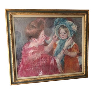 """Mother and Child"" Art Institute of Chicago Framed Numbered Print by Mary Cassatt For Sale"