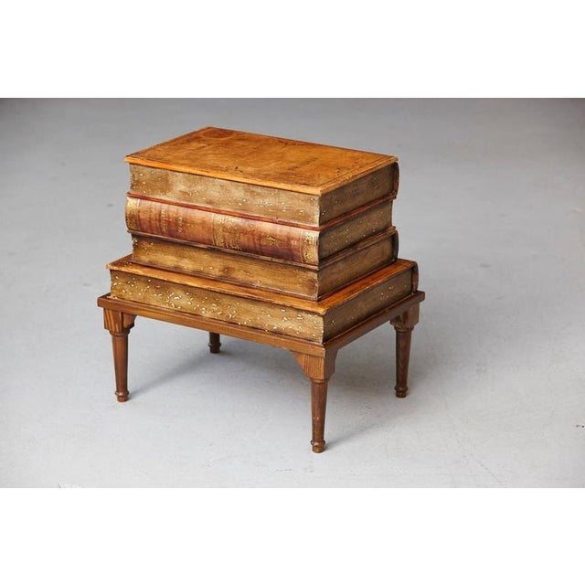 Italian Italian 'Faux Stacked Leather Volume' Low Table For Sale - Image 3 of 9
