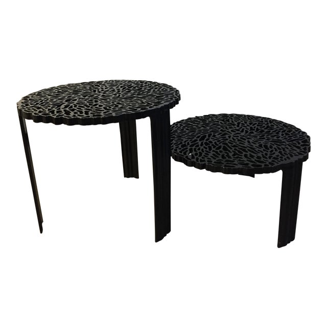 "Kartell ""T-Table"" Nesting Tables - A Pair - Image 1 of 10"