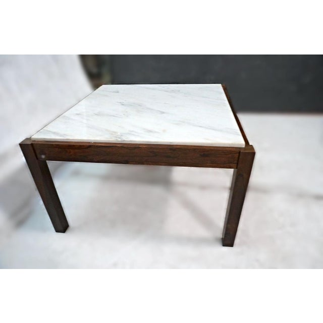 Danish Modern Rosewood & Marble Coffee Table - Image 8 of 10