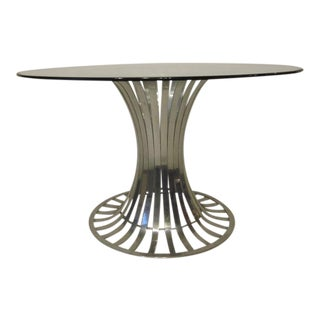 Russell Woodard Aluminium and Glass Dining Table For Sale