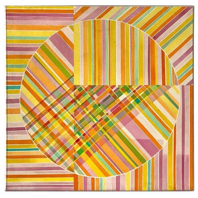 Mid-Century Modern Hard Edge Optical Art Painting, Signed, Circa 1960s For Sale - Image 11 of 13
