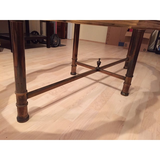 Pie Crust Brass Coffee Table - Image 4 of 5