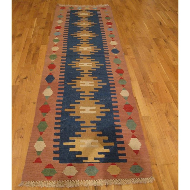 Handwoven in Turkey, this runner is an updated classic design. New.
