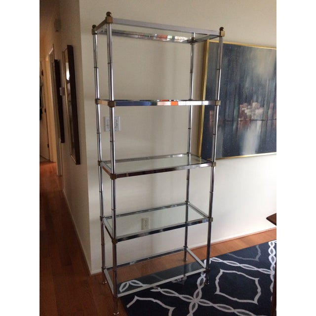 1960s Hollywood Regency Chrome Etagere For Sale - Image 13 of 13