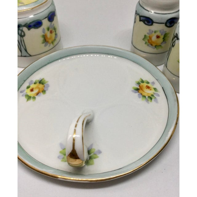 1910s Antique 1910s Noritake Salt and Pepper Set - 4 Pieces For Sale - Image 5 of 13