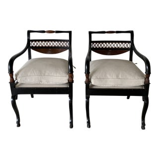 Painted Armchairs- a Pair For Sale