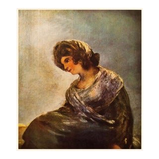 "1950s Francisco Goya ""Milkmaid at Bordeaux"" First Edition Lithograph For Sale"