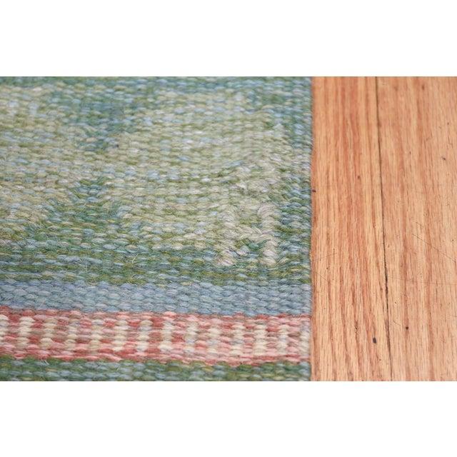 Cottage Vintage Swedish Kilim Rug by Anna Johanna Angstrom - 4′8″ × 6′8″ For Sale - Image 3 of 9