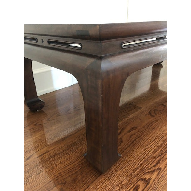 Asian Custom Walnut Coffee Table For Sale - Image 4 of 11