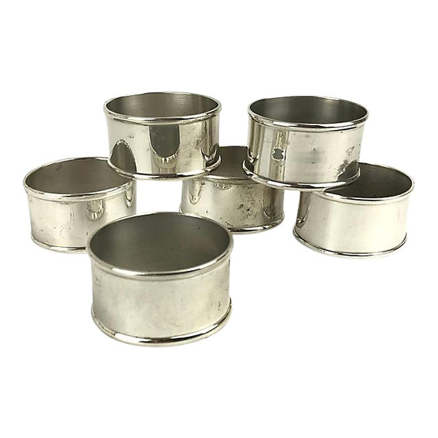 Silverplate Oval Napkin Rings - Set of 6 For Sale