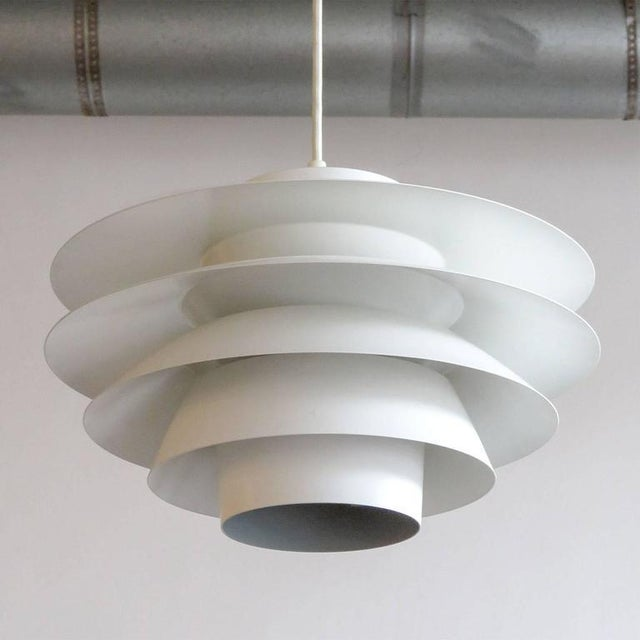 Wonderful large tiered 'Verona' pendant, designed by Sven Middleboe for Nordisk Solar Compagni in Denmark in 1962. This...