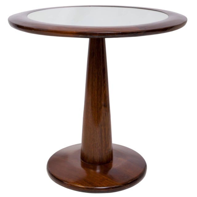 Vintage L'Atelier Round Side Table - Image 1 of 2