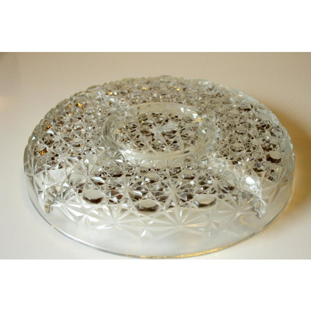 1960s Mid-Century Lead Crystal Glass 5 Compartment Appetizer Tray For Sale - Image 5 of 6