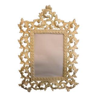 Vintage Ornate Metal Vanity Mirror