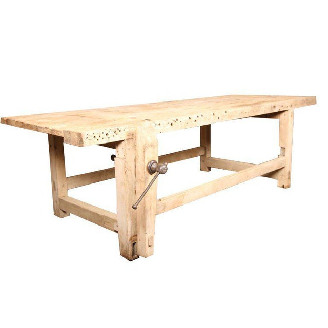 Carpenter's Workbench Island For Sale - Image 10 of 10