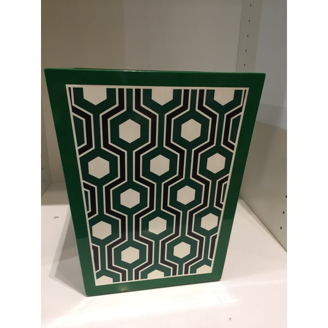 The Bungalow 5 Sasoon Collection of geometrically patterned lacquer summons the energy of the 1960s Modern art in a design...