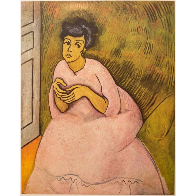 """1954 Raoul Dufy, """"Woman in Rose"""" First Edition Lithograph For Sale In Dallas - Image 6 of 8"""