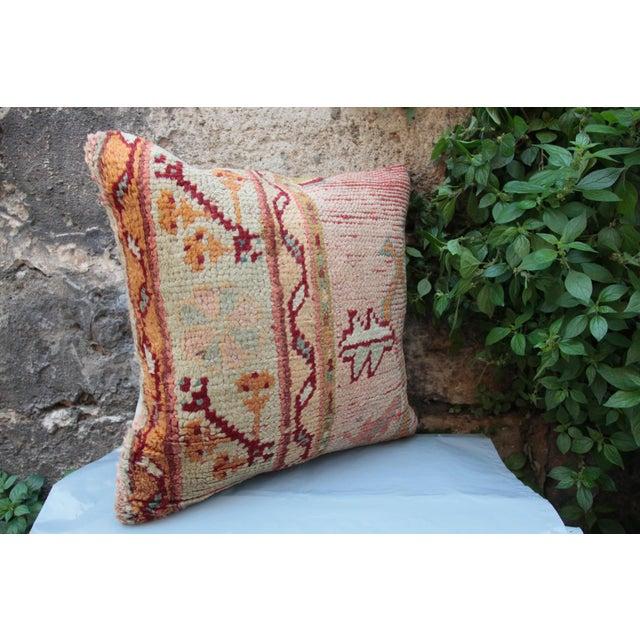 Textile Vintage Turkish Oushak Pillow For Sale - Image 7 of 9
