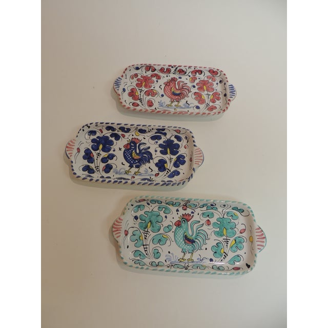 Hand Painted Ceramic Serving Dishes Set of (3) - Image 2 of 6