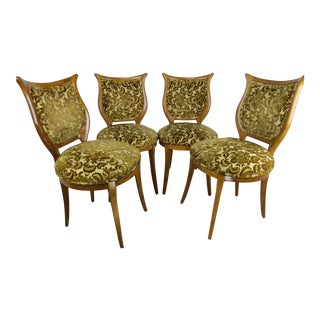1930s American Classical Shieldback Dining Chairs - Set of 4 For Sale