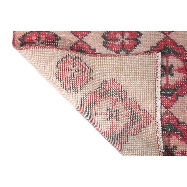 Turkish 1960s Vintage Decorative Turkish Area Rug - 3′10″ × 6′11″ For Sale - Image 3 of 6