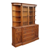 Image of 1980s Regency Style Mahogany Open Cupboard Dining Room China Cabinet For Sale