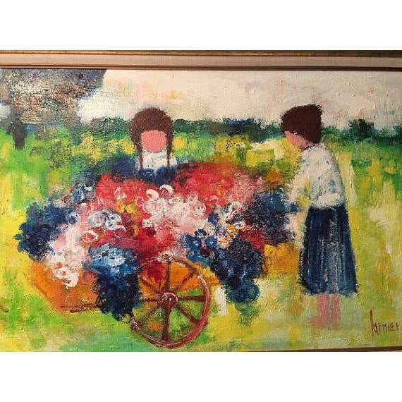 Cottage Christian Lanier Oil Painting For Sale - Image 3 of 3