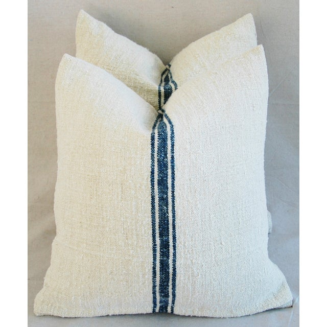 French Grain Sack Pillows - A Pair - Image 2 of 10