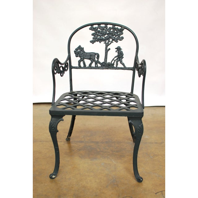 Vintage Cast Aluminum Garden Chairs - Image 2 of 6