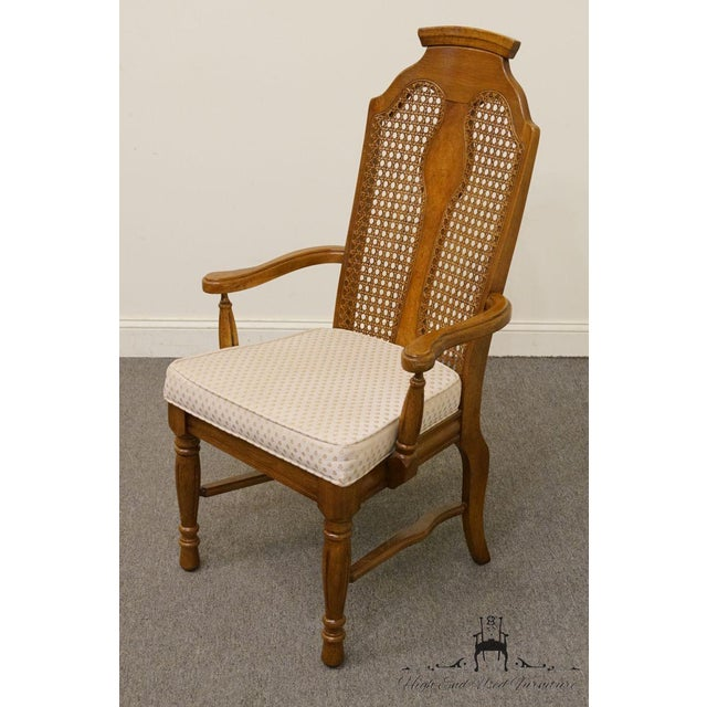 Brown Henry Link Dixie Contemporary Style Cane Back Dining Arm Chairs - a Pair For Sale - Image 8 of 13