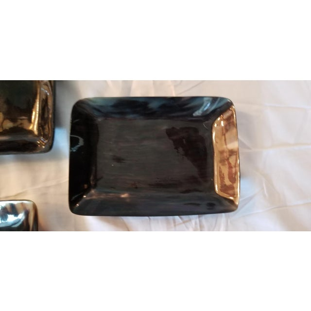 Art Deco Contemporary Lewes Rectangular Trays - Set of 3 For Sale - Image 3 of 8