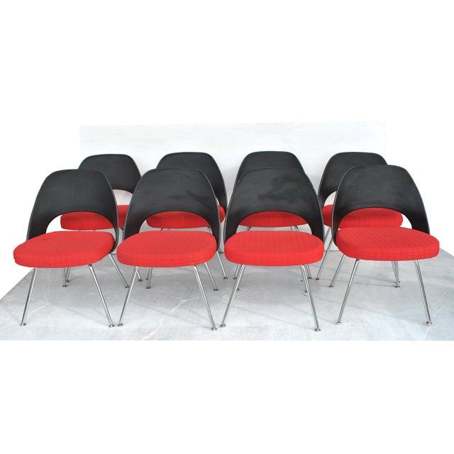 Eero Saarinen Set of Four Contemporary Knoll Eero Saarinen 72c-Piece Dining Side Chairs For Sale - Image 4 of 13