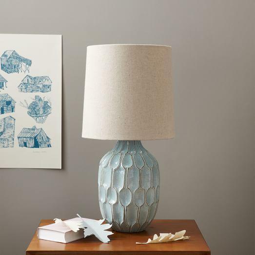 West Elm Handmade Ceramic Lamps - A Pair - Image 8 of 9