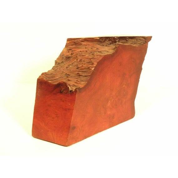 Vintage California Redwood Burl Abstract Sculpture - Image 4 of 5