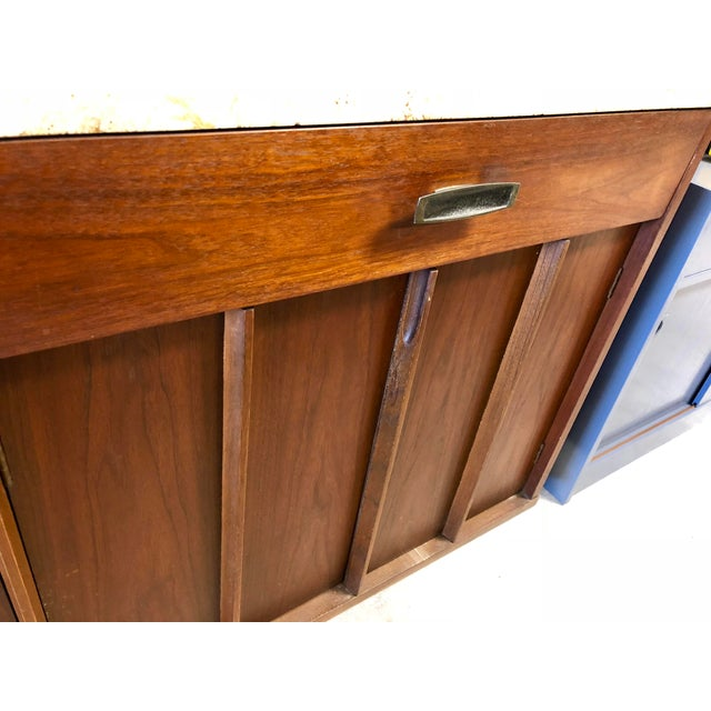 Brown Mid-Century Modern American of Martinsville Italian Soapstone Credenza For Sale - Image 8 of 10