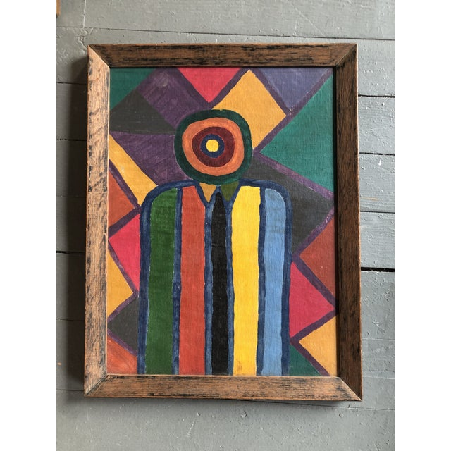 1950s Original 1950's Abstract Modernist Original Painting Vivian Stern For Sale - Image 5 of 5