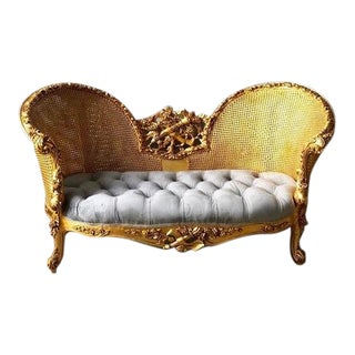 Modern French Louis XV Style Marquise Sofa For Sale