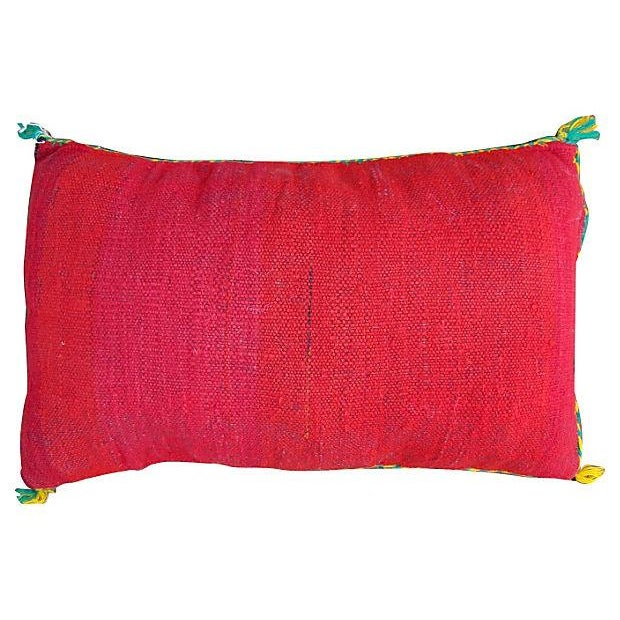 Moroccan Red Berber Sham Pillow - Image 2 of 2