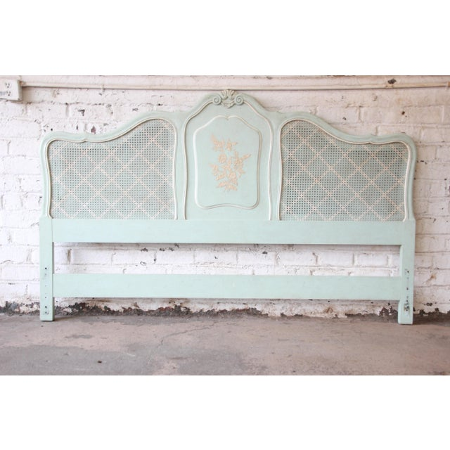Wood John Widdicomb French Provincial Louis XV Style King Size Headboard For Sale - Image 7 of 7