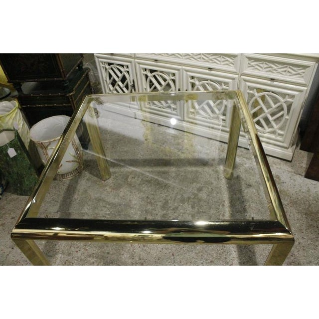 Vintage Brass Dining Table Game Table For Sale In West Palm - Image 6 of 10