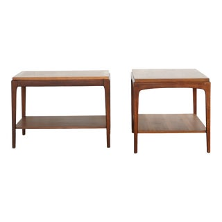 Lane Walnut Side Tables - a Pair For Sale