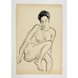 1960's Nude Female Study Drawing Preview