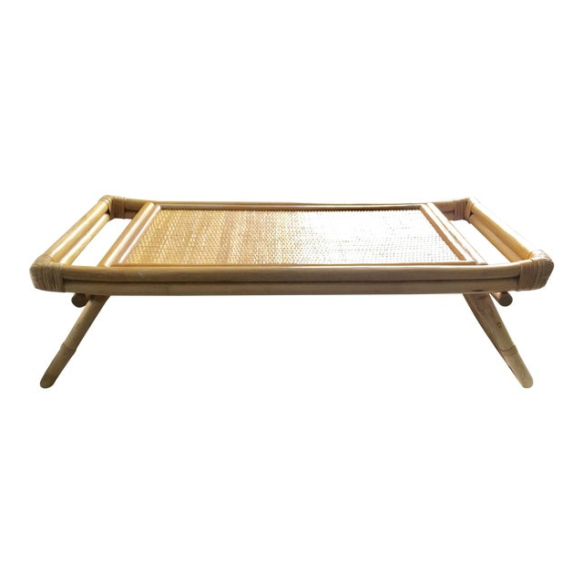 Mid-Century Breakfast in Bed Bamboo Tray - Image 1 of 8
