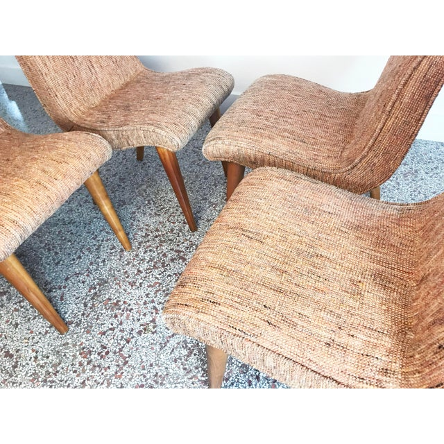 Brown Russel Wright Scoop Dining Chairs - Set of 4 For Sale - Image 8 of 13